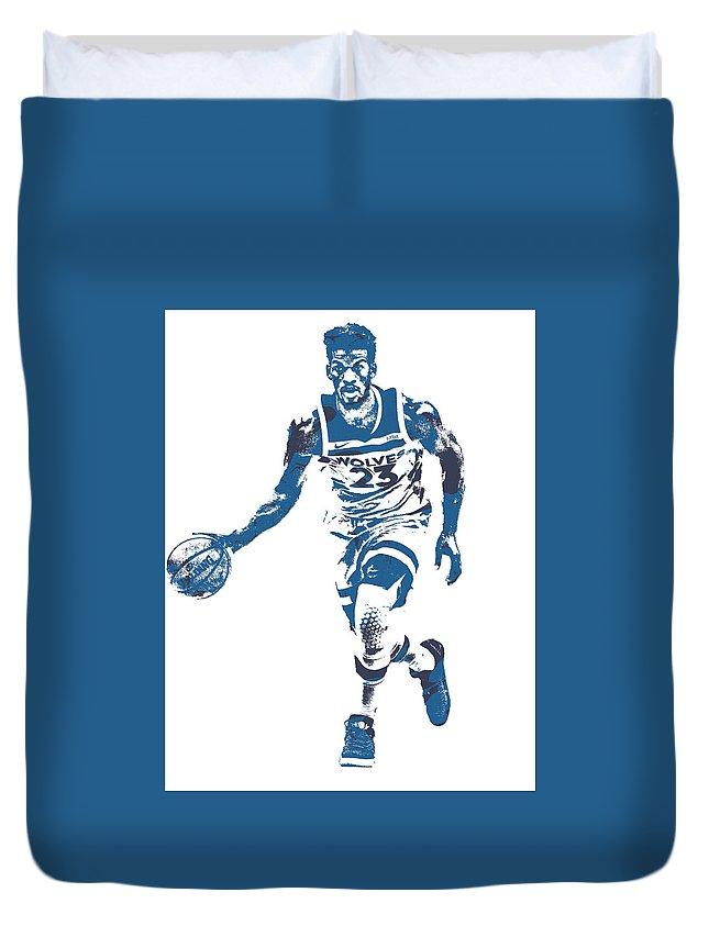 1d5c3fe8f Jimmy Butler Minnesota Timberwolves Pixel Art 5 Duvet Cover for Sale by Joe  Hamilton
