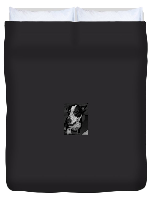 Black And White Duvet Cover featuring the photograph Jimmy by Rob Hans