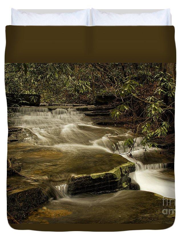 Joe's Creek Duvet Cover featuring the photograph Joe's Creek by Barbara Bowen