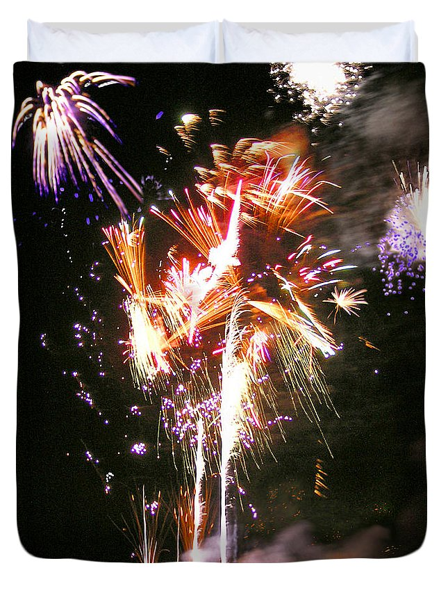 Joe Duvet Cover featuring the photograph Joe's Fireworks Party 2 by Charles Harden