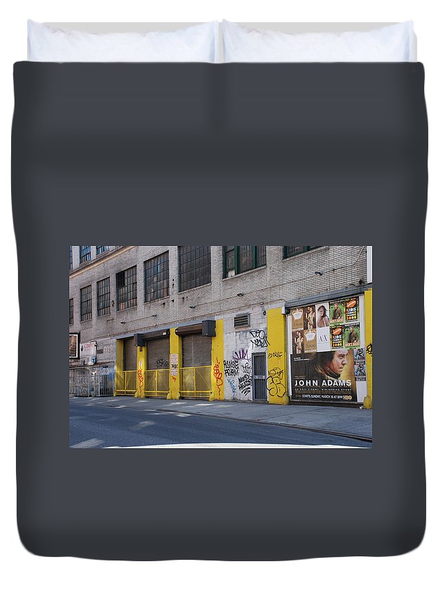 Architecture Duvet Cover featuring the photograph John Adams by Rob Hans
