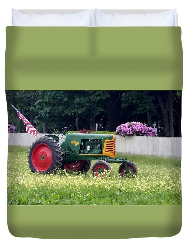 Tracker Duvet Cover featuring the photograph John Deere by Rob Hans