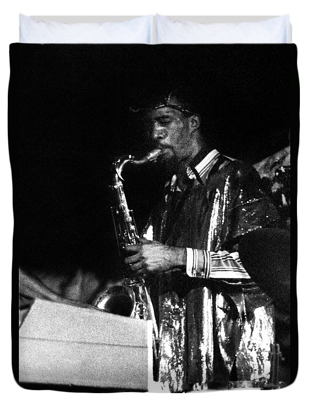 Sun Ra Arkestra At The Red Garter 1970 Nyc Duvet Cover featuring the photograph John Gilmore by Lee Santa