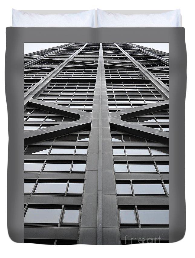 John Hancock Building Duvet Cover featuring the photograph John Hancock Building by Mary Machare
