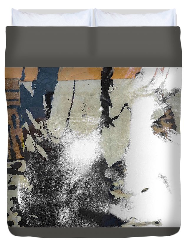 The Beatles Duvet Cover featuring the digital art John Lennon - In My Life by Paul Lovering