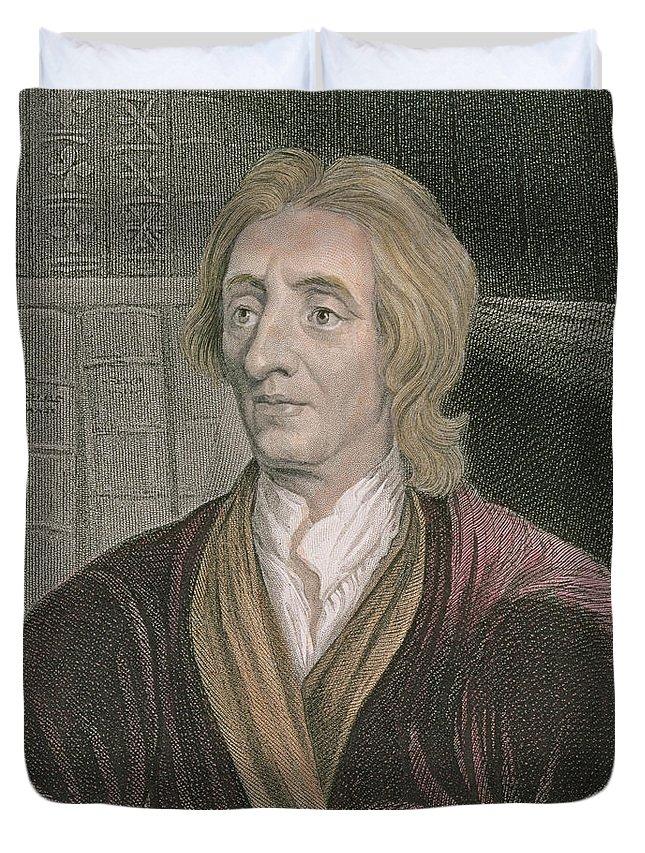 John Locke Duvet Cover featuring the painting John Locke by Sir Godfrey Kneller