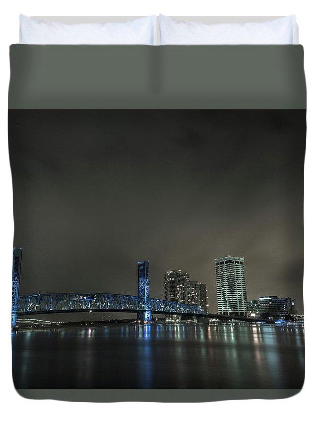 Jacksonville Duvet Cover featuring the photograph John T. Alsop Bridge 2 by Kenny Thomas