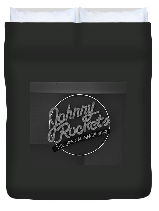 Macro Duvet Cover featuring the photograph Johnny Rockets by Rob Hans