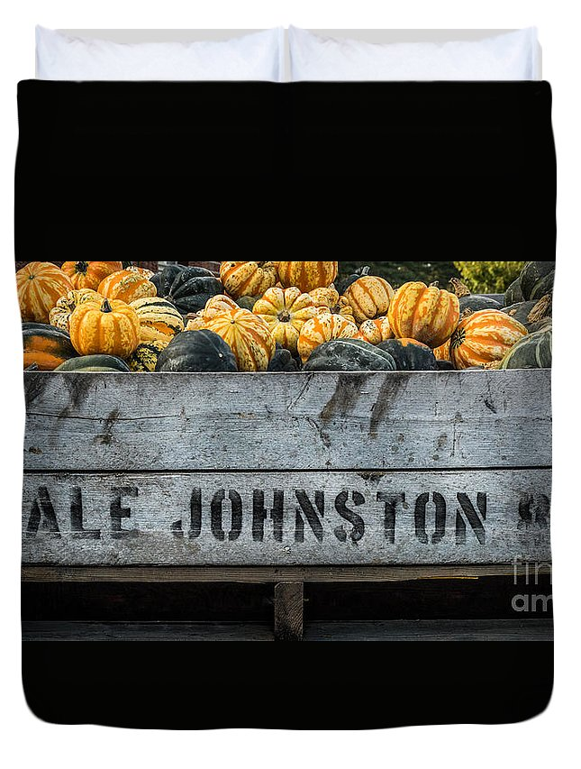 Fruit Duvet Cover featuring the photograph Johnston Fruit Farms by Michael Arend