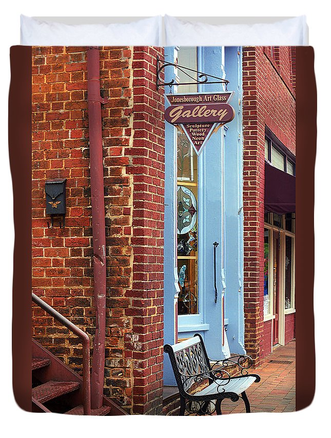 America Duvet Cover featuring the photograph Jonesborough Tennessee Main Street by Frank Romeo