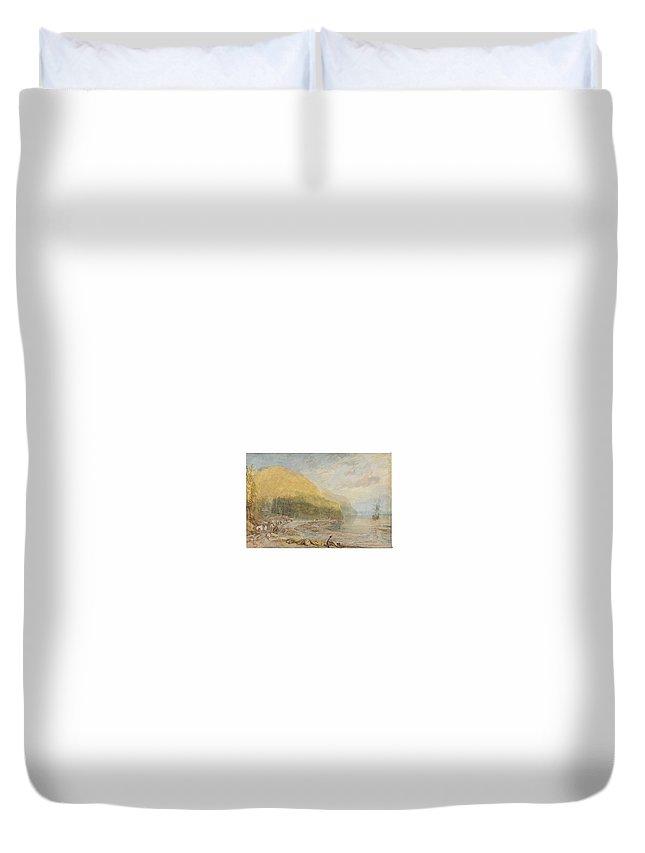 Joseph Mallord William Turner Duvet Cover featuring the painting Joseph Mallord William Turner by MotionAge Designs