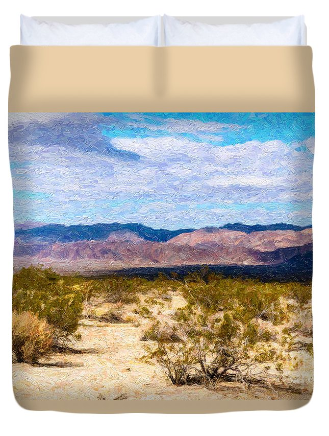 Desert Duvet Cover featuring the photograph Joshua Tree Ca 2 by Stefan H Unger