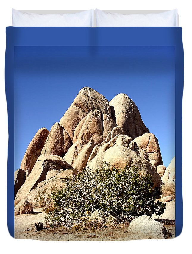 Joshua Tree Duvet Cover featuring the photograph Joshua Tree Center by William Dey