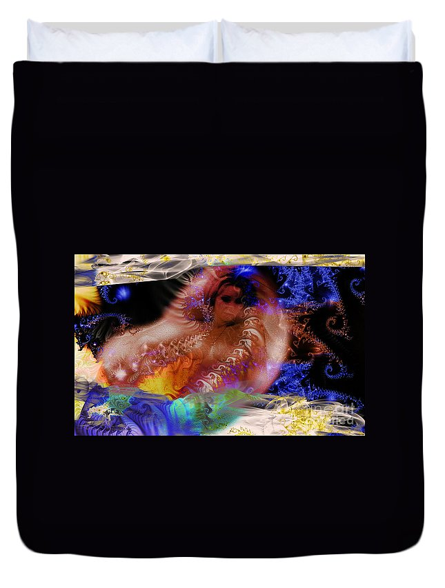 Clay Duvet Cover featuring the photograph Journey To The Centre Of Man's Mind by Clayton Bruster