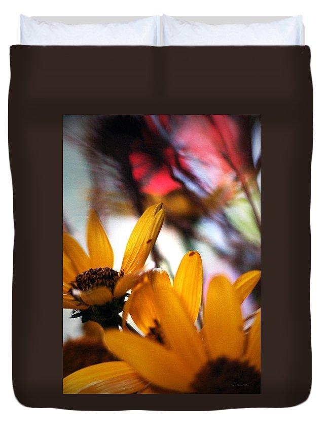Flowers Duvet Cover featuring the photograph Joy... by Arthur Miller