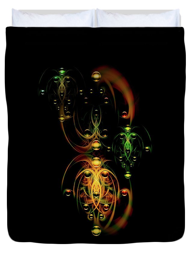 Digital Duvet Cover featuring the digital art Juggling Team by Andy Young