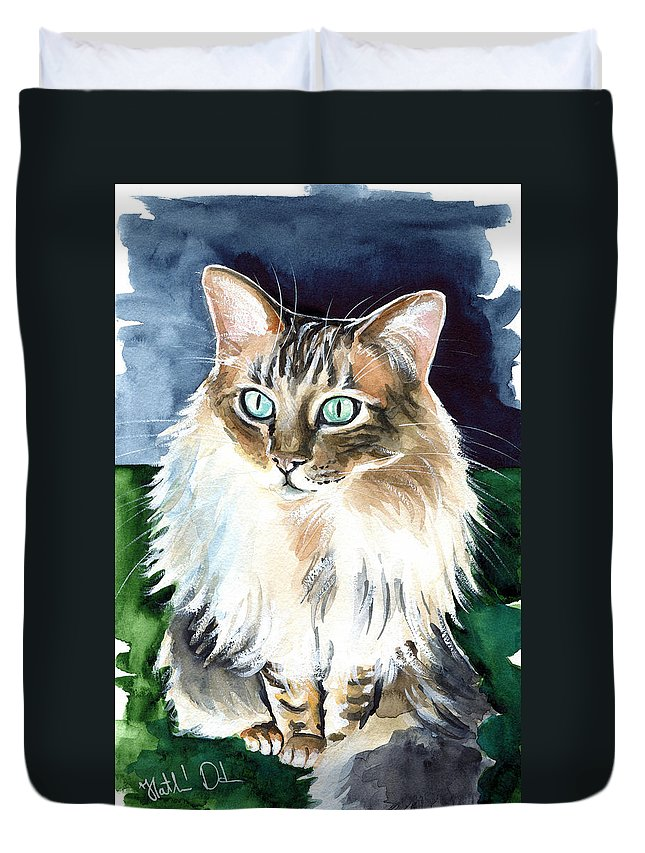 Juju Cashmere Bengal Cat Painting Duvet Cover For Sale By Dora Hathazi Mendes