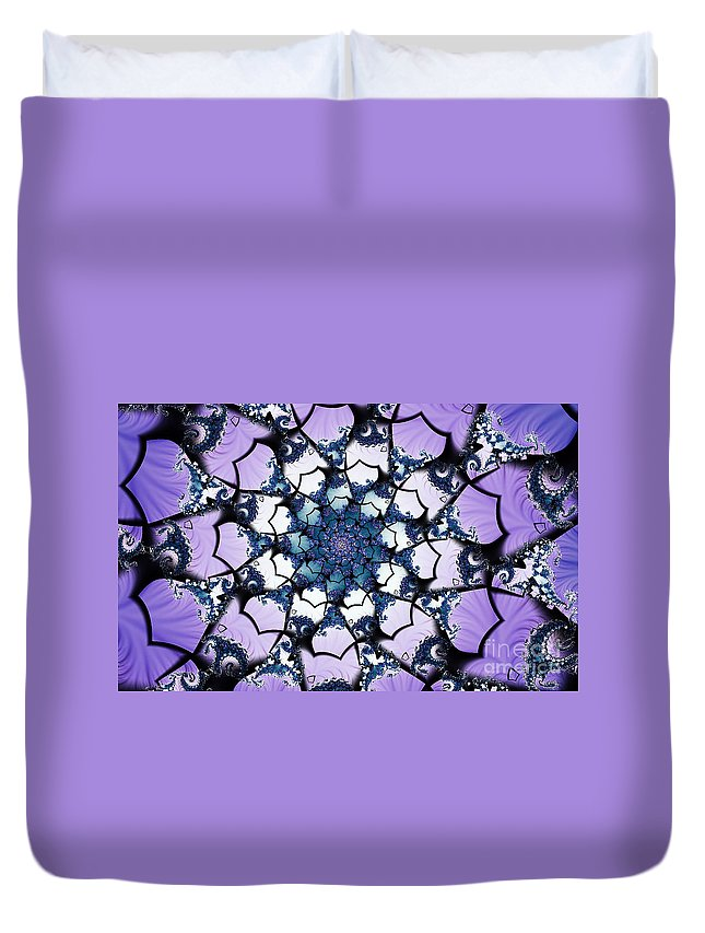 Clay Duvet Cover featuring the digital art Julia by Clayton Bruster