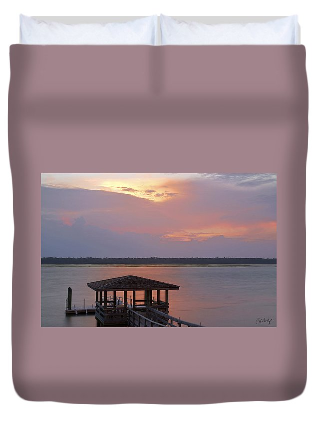 Sunset Duvet Cover featuring the photograph July Evening by Phill Doherty