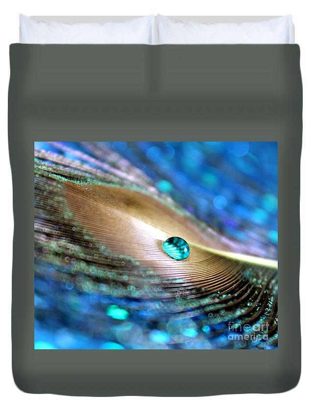 Peacock Duvet Cover featuring the photograph July by Krissy Katsimbras