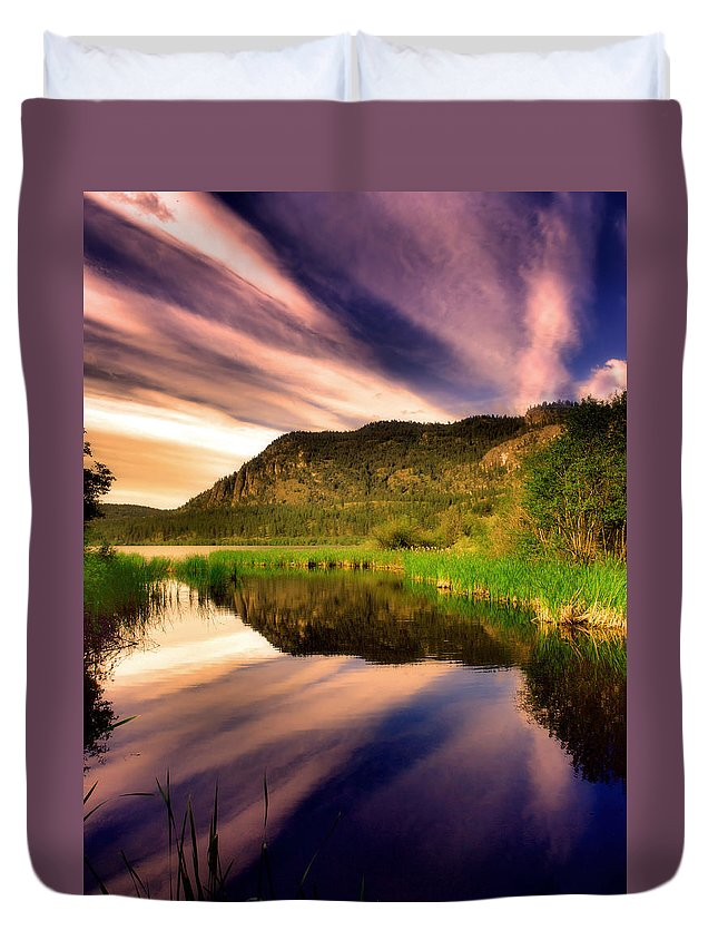 Lake Duvet Cover featuring the photograph June 30 2010 by Tara Turner