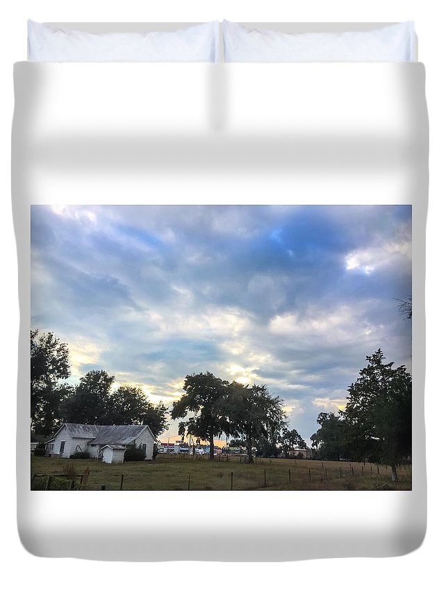 Duvet Cover featuring the photograph June Epperson Home by John Stokes