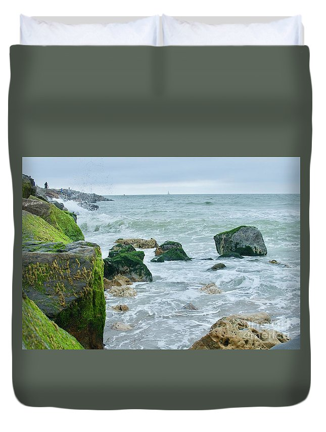 Road Trip Duvet Cover featuring the photograph June Gloom Beauty by Collective Seventy