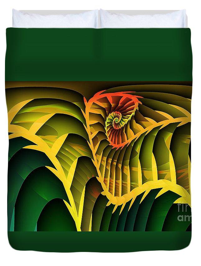 Fractal Duvet Cover featuring the digital art Jungle by Jutta Maria Pusl