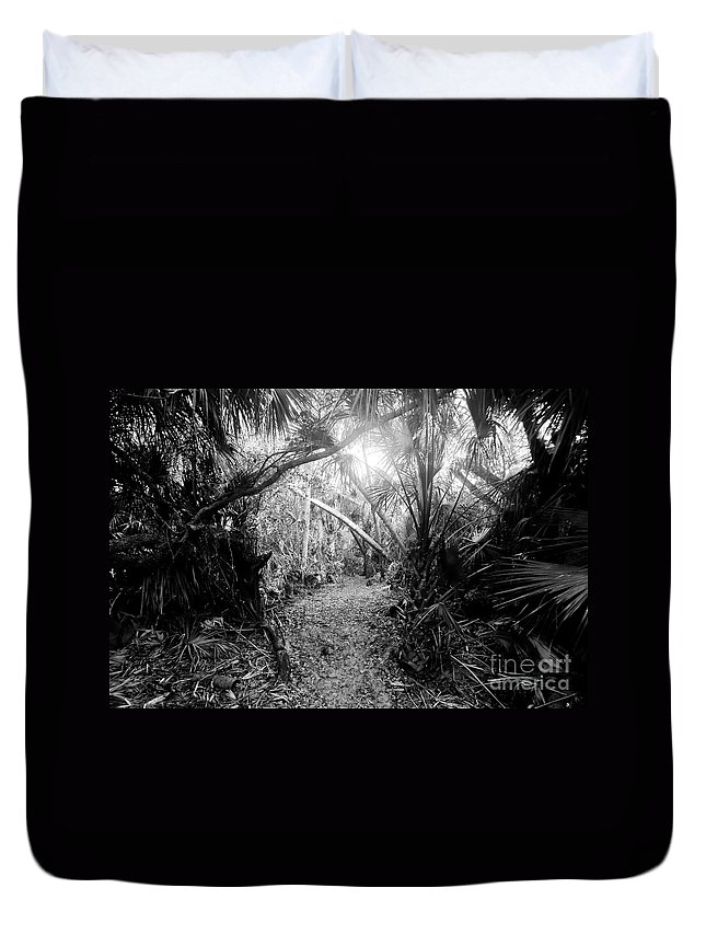 Jungle Duvet Cover featuring the photograph Jungle Trail by David Lee Thompson