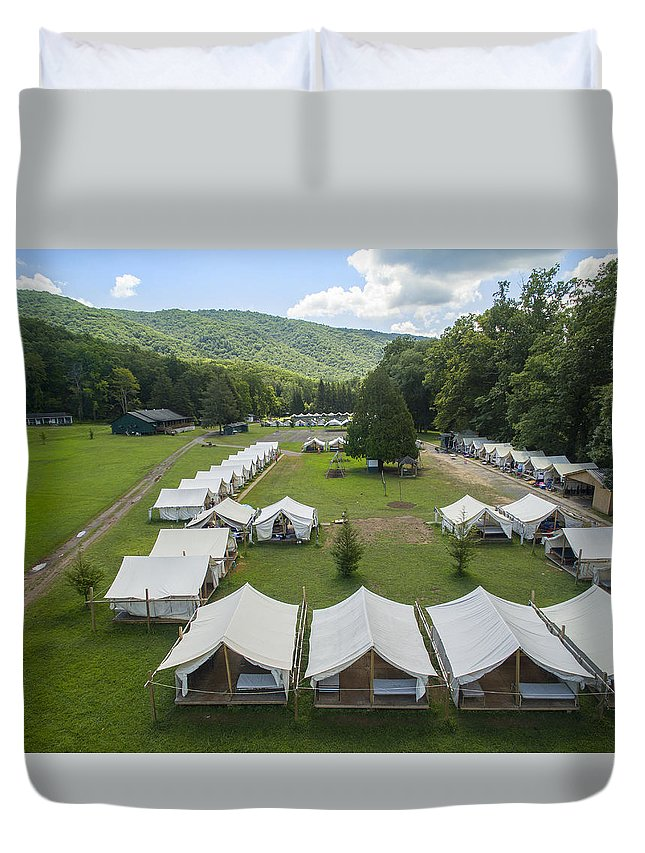 Alleghany Duvet Cover featuring the photograph Junior Camp At Camp Alleghany by Creative Dog Media