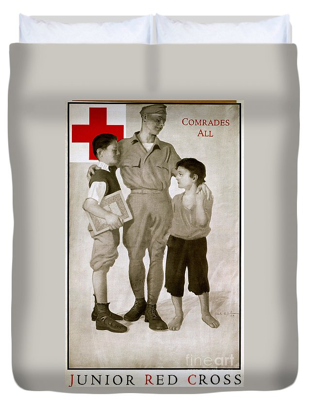 1919 Duvet Cover featuring the photograph Junior Red Cross Poster by Granger