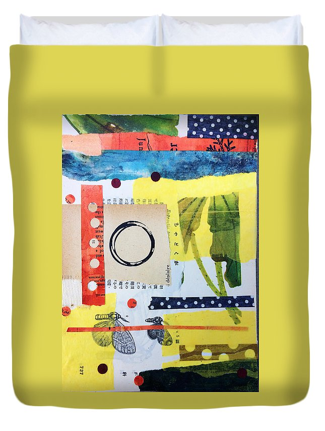 Collage Duvet Cover featuring the mixed media Juniper by Piper Deggan