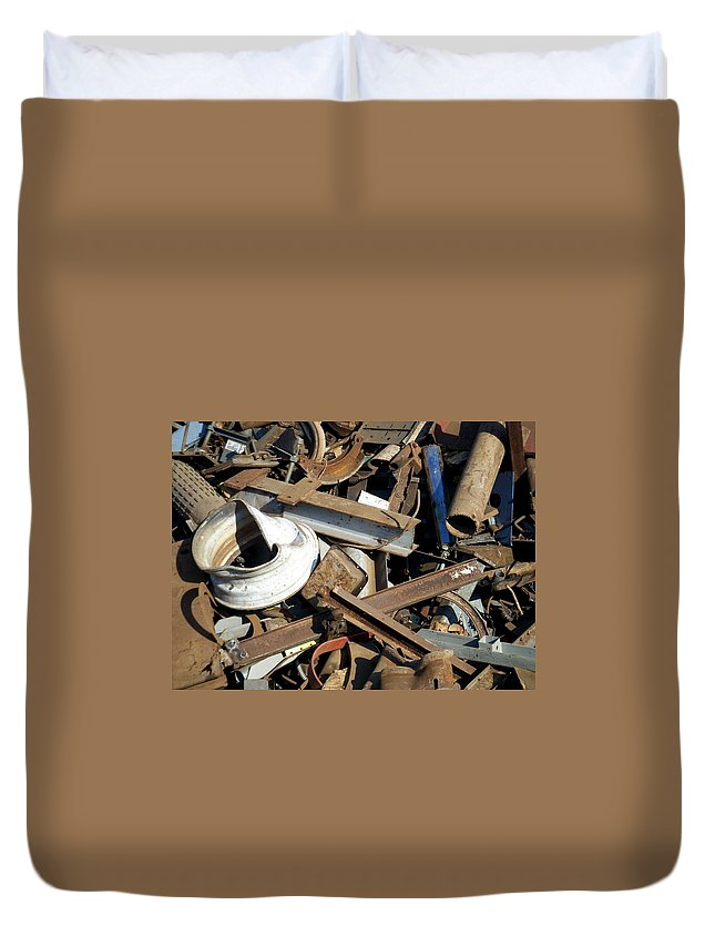 Junk Duvet Cover featuring the photograph Junk 1 by Anita Burgermeister