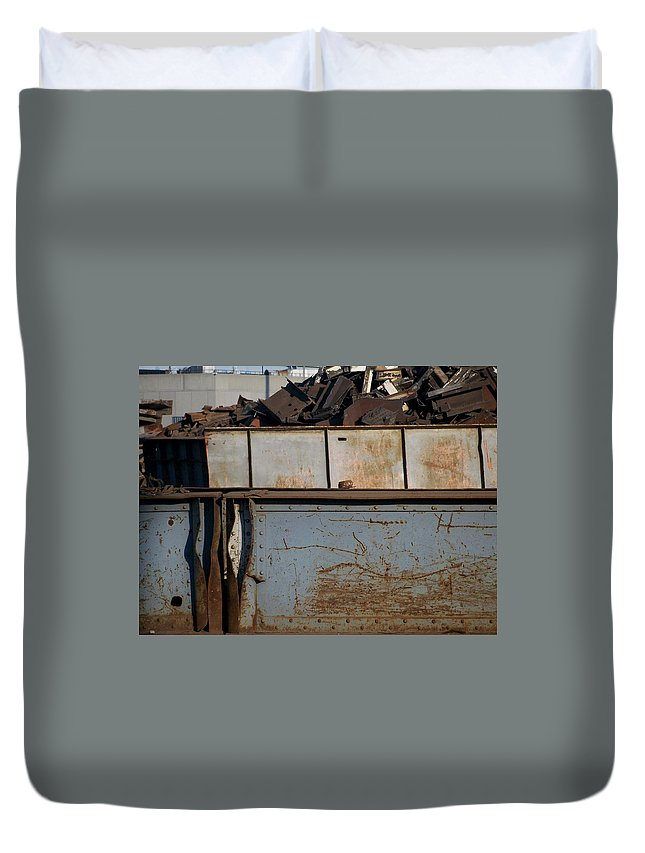 Junk Duvet Cover featuring the photograph Junk 10 by Anita Burgermeister