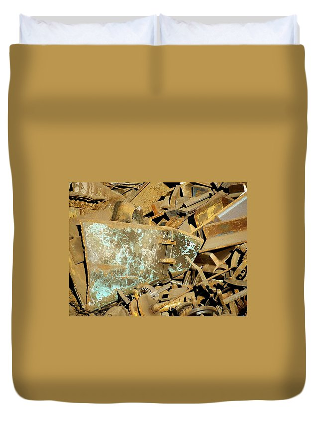 Junk Duvet Cover featuring the photograph Junk 11 by Anita Burgermeister