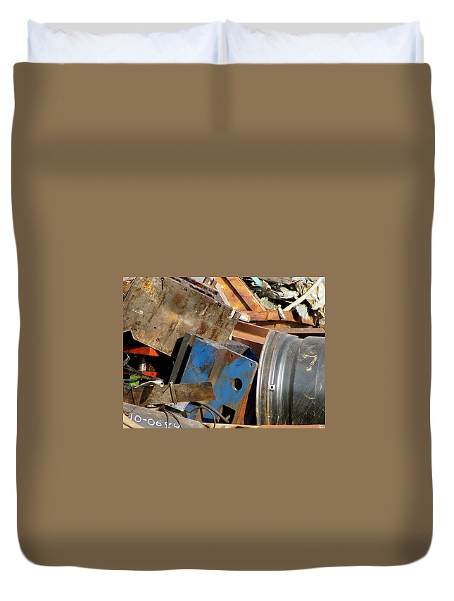 Photo Duvet Cover featuring the photograph Junk 13 by Anita Burgermeister