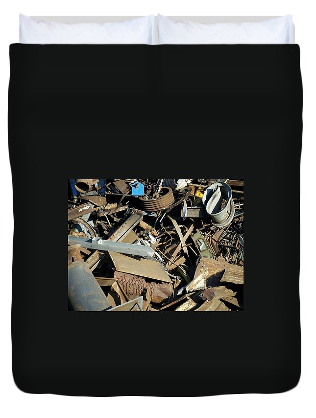 Junk Duvet Cover featuring the photograph Junk 2 by Anita Burgermeister