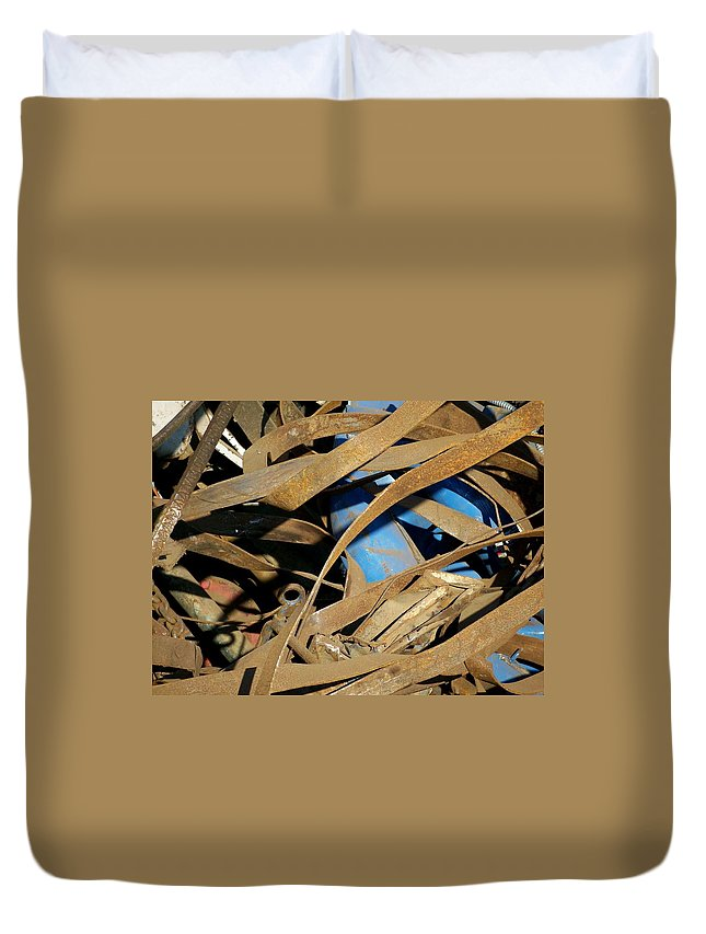 Junk Duvet Cover featuring the photograph Junk 3 by Anita Burgermeister