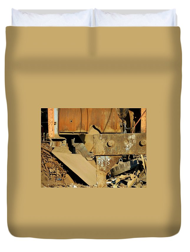 Junk Duvet Cover featuring the photograph Junk 4 by Anita Burgermeister
