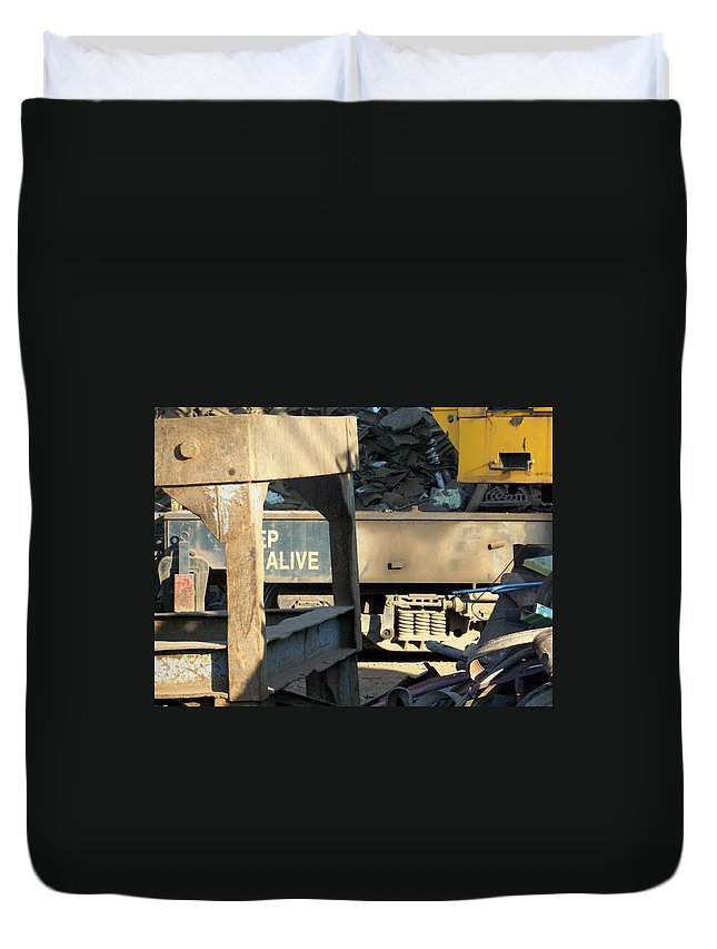 Junk Duvet Cover featuring the photograph Junk 7 by Anita Burgermeister