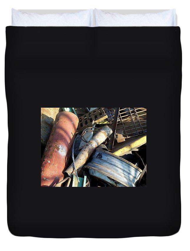 Junk Duvet Cover featuring the photograph Junk 9 by Anita Burgermeister