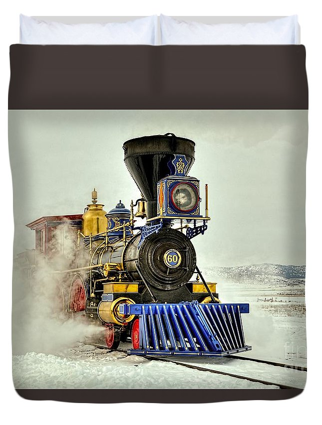 Golden Spike Duvet Cover featuring the photograph Jupiter 2 by Roxie Crouch