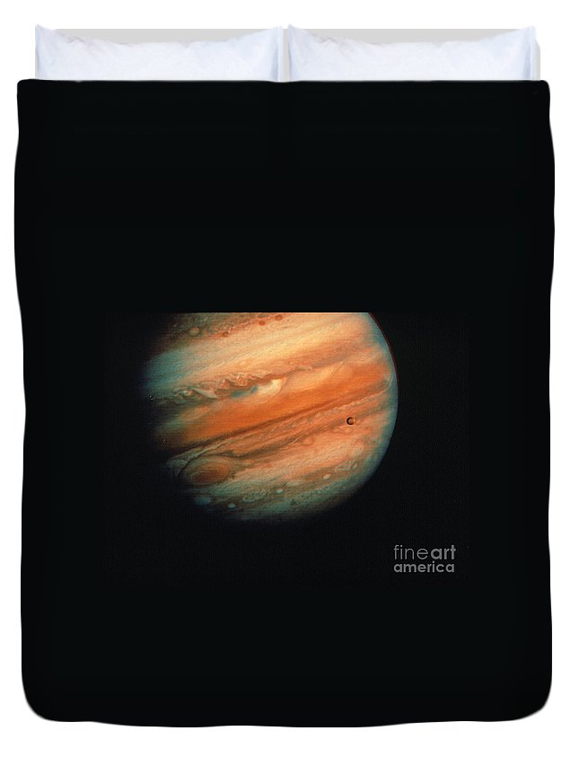 1970s Duvet Cover featuring the photograph Jupiter, Europa, & Io by Granger