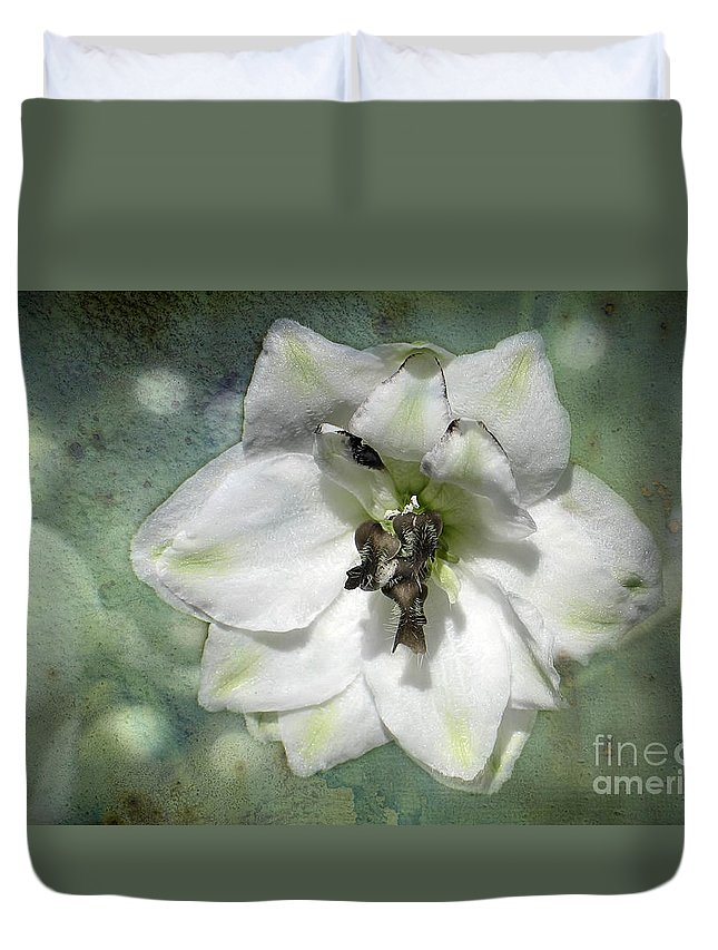 Flower Duvet Cover featuring the photograph Just A Flower by Teresa Zieba