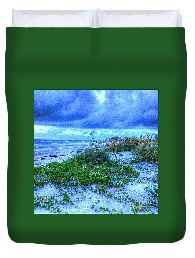 Beach Duvet Cover featuring the photograph Just Beachy by Debbi Granruth