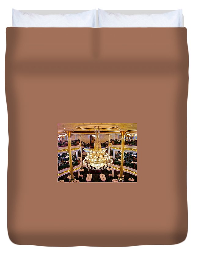 Chandelier Duvet Cover featuring the photograph Just Before Dinner by Clifton Facey