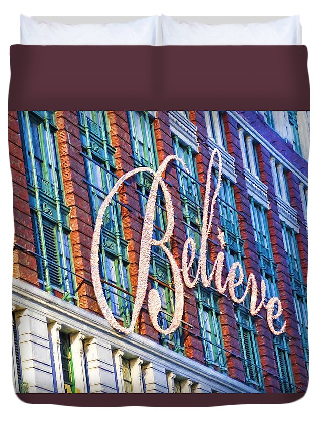 Alicegipsonphotographs Duvet Cover featuring the photograph Just Believe by Alice Gipson