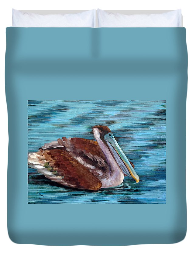 Acrylic Duvet Cover featuring the painting Just Cruisin by Suzanne McKee