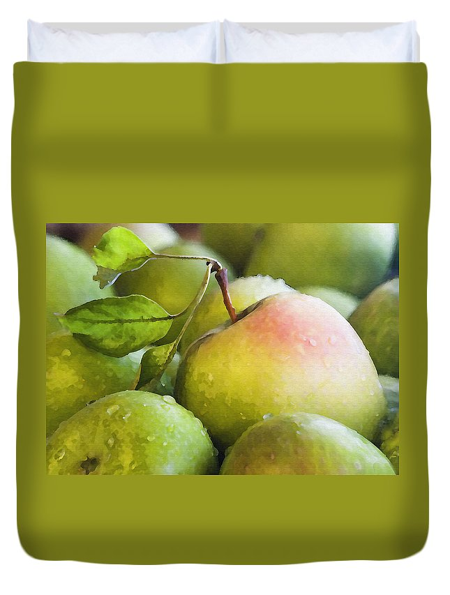 Fruit Duvet Cover featuring the photograph Just Delicious by Sharon Foster
