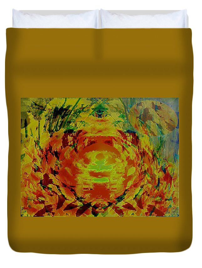 Flowers Duvet Cover featuring the digital art Just Flowers by Helmut Rottler